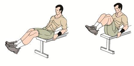 vertical bench crunches seated leg tucks scissors crunches exercise to build 6