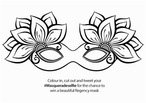 masquerade masks template masquerade mask template sketch coloring page