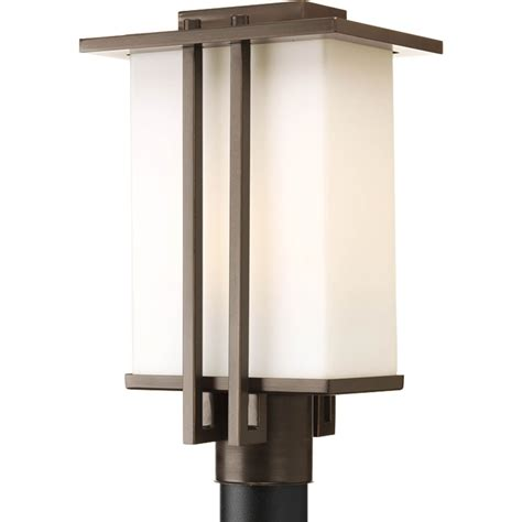 white outdoor l post post light fixture outdoor ge edison v post top lighting