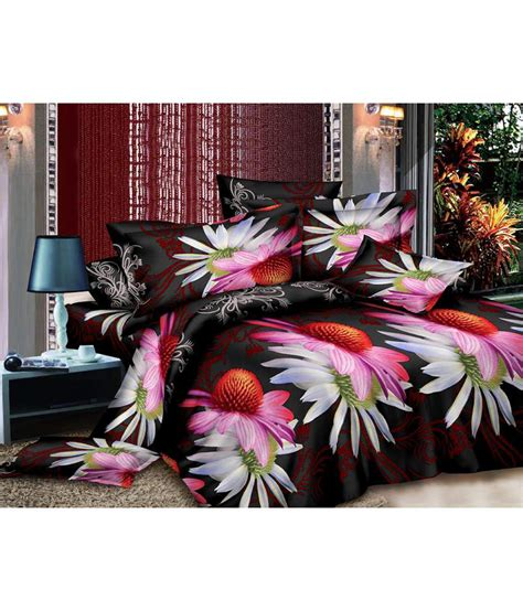 fantasy home decor fantasy home decor multicolor double bed sheet with 2