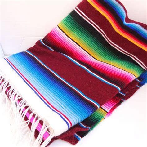 vintage technicolor mexican serape blanketthrow vintage
