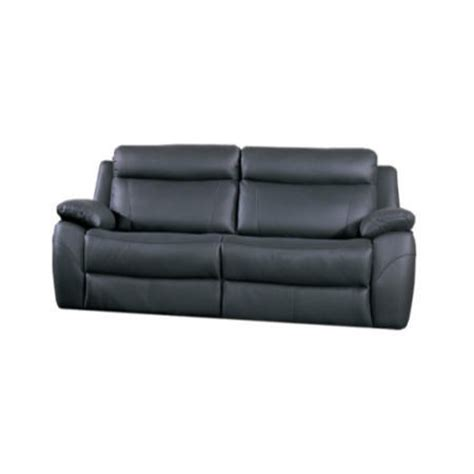 Alessia Leather Sofa by Furniture Link Alessia Black Leather 3 Seater Recliner