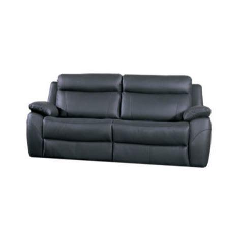 Alessia Leather Sofa Furniture Link Alessia Black Leather 3 Seater Recliner Sofa Furniture123