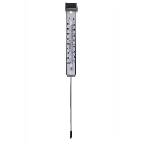 Termometer Outdoor vidaxl co uk nature thermometer outdoor with solar