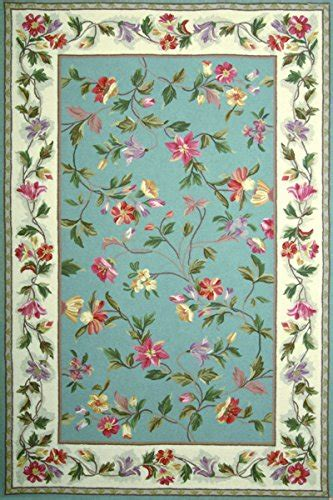 cheap floral rugs cheap kas rugs colonial collection floral area rug 30 x 50 slate blue ivory