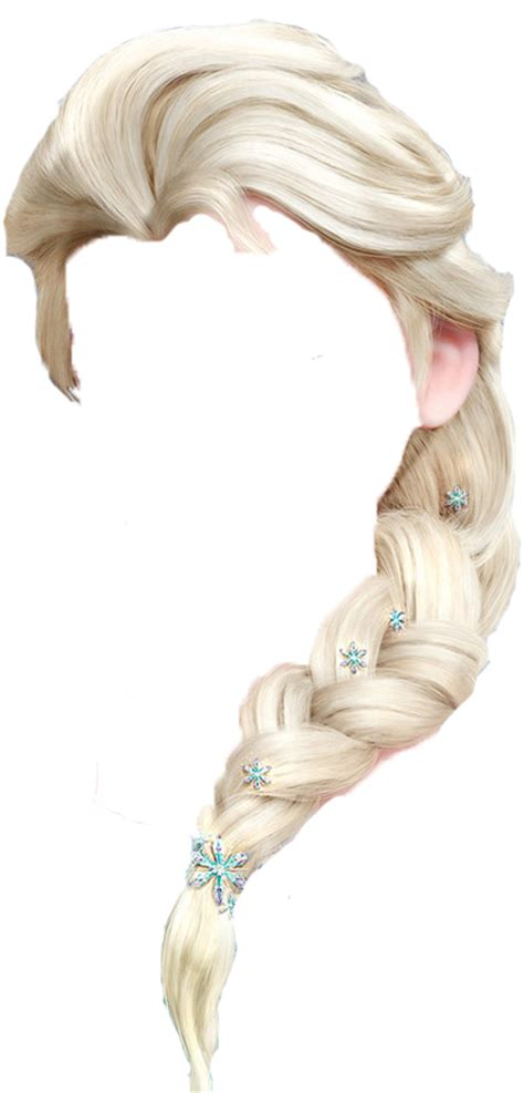 Elsa Button Hairclips elsa s hair transparent by drjohnhamiishwatson on deviantart