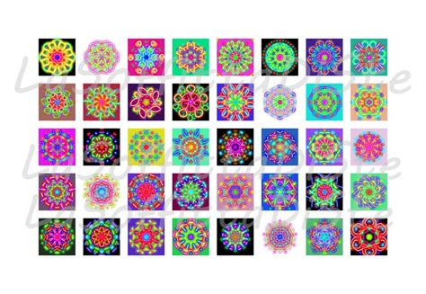 printable glass stickers mandala planner sticker instant download squares 1 inch