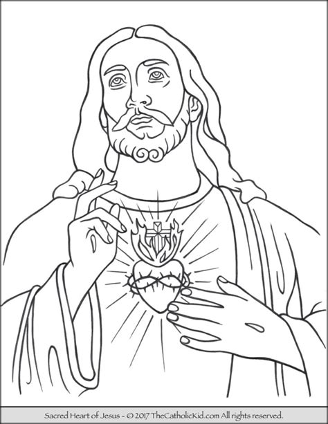 jesus coloring page the catholic kid catholic coloring pages and for