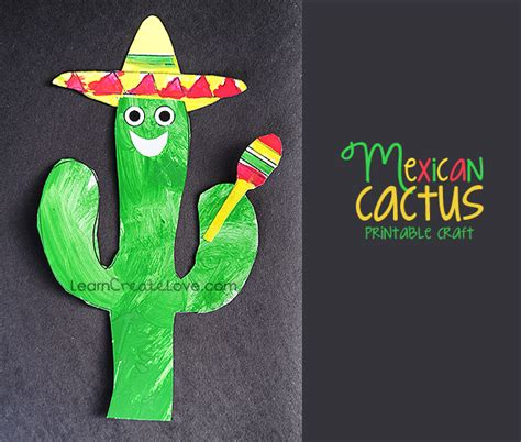 Printable Mexican Cactus Craft