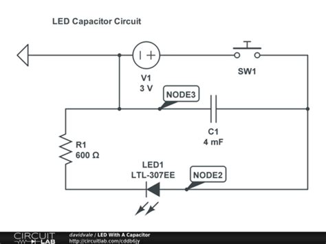 capacitor led circuit led with a capacitor circuitlab
