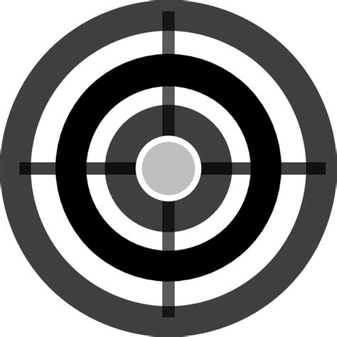 Clip On L Target by Grey Target Clip At Clker Vector Clip
