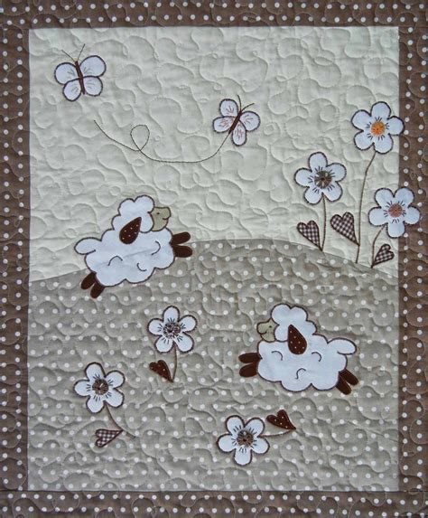 Baby Blanket Quilt Patterns by Sheep Quilts Baby Blanket And Pillowcase From Ulla S