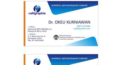 desain kartu nama event organizer desain kartu nama dan brosur desain corel foto gambar teks