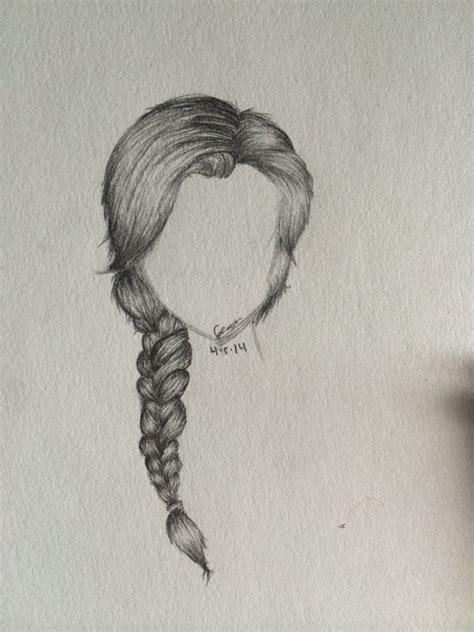 Drawing Of A With Braids by Side Braid Sketch By Minniemochi On Deviantart