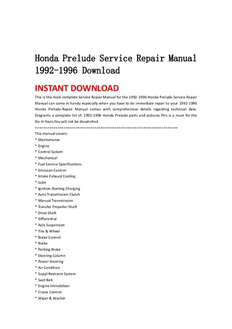 free download parts manuals 1984 honda prelude security system service manual service repair manual free download 1996 honda prelude electronic toll