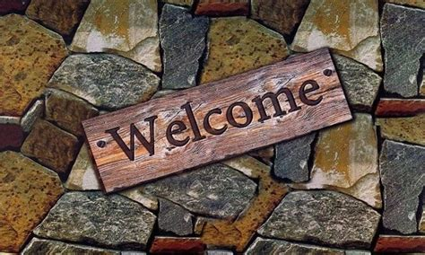 welcome rubber st park avenue welcome quarry stones outdoor rubber entrance