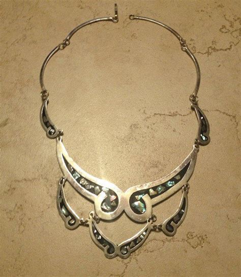 Vintage Alpaca Silver Necklace Scalloped from Stellavintagejewelr