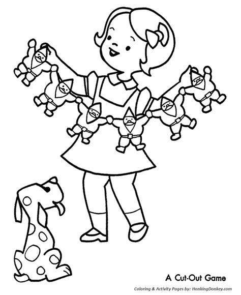 Free Coloring Pages Christmas Party Coloring Pages Coloring Pages Cutouts