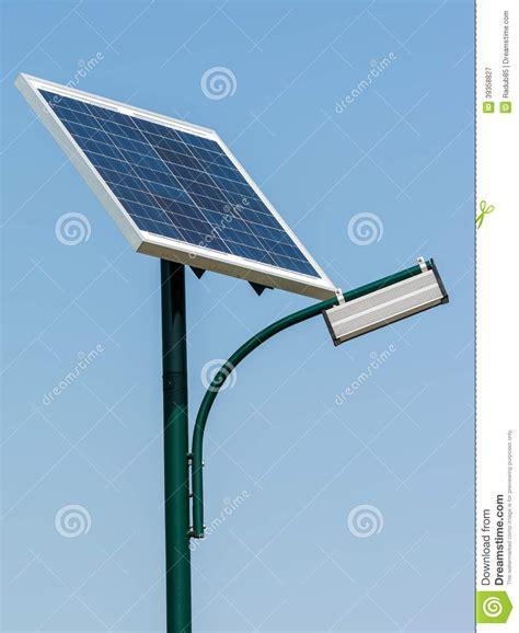 modern solar l post solar energy light post stock photo image 39358827