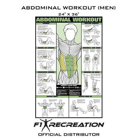 original abdominal workout poster men nfcb  recreation