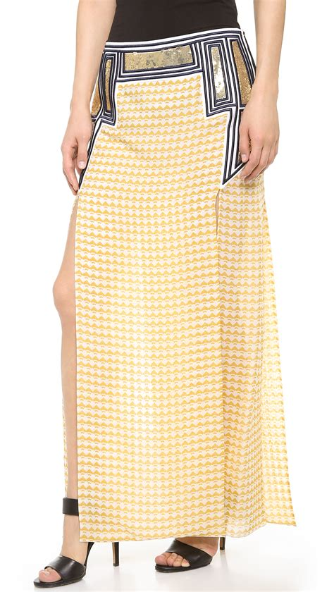 sass bide dont be skirt mustard gold in yellow lyst