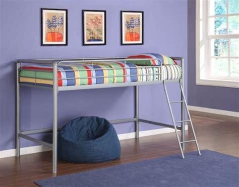 Size Junior Loft Bed by Dhp Junior Loft Beds Size Mattress Silver Bedroom