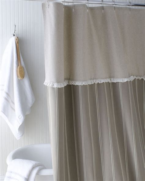 French Laundry Home French Stripe Shower Curtain From Horchow