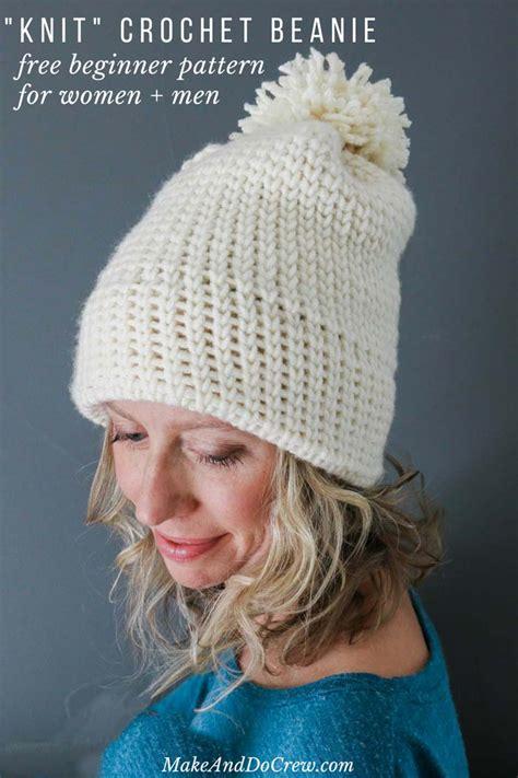 crochet easy hat for women tutorial 10 part 1 of 2 free modern crochet hat pattern for beginners men s