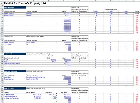 Estate Accounting Template Etame Mibawa Co Probate Spreadsheet Template
