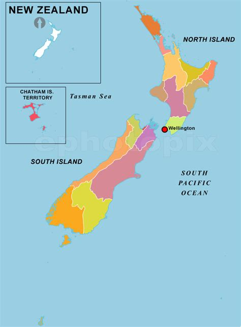 political map of new zealand geography maps regions of new zealand