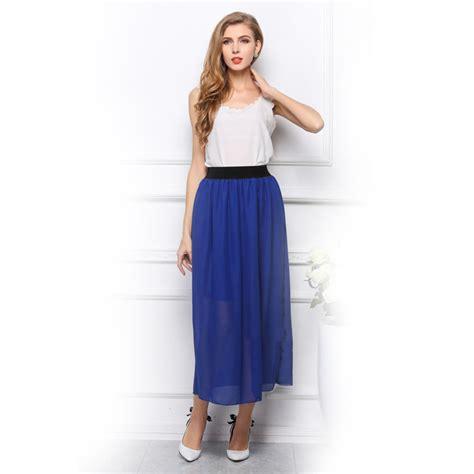 2015 new brand chiffon maxi skirts culottes skirt