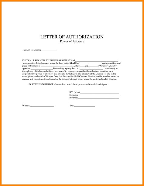 durable power of attorney template power attorney sample letters