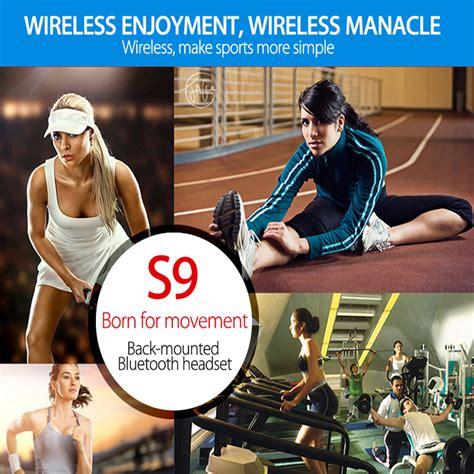Headset Hf Bluetooth Kabel Blutoth S9 lymoc s9 original sport wireless bluetooth headset earphones running stereo headphones