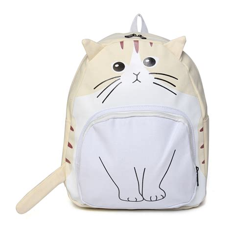 8 Adorable Backpacks by Backpack Cat Canvas School Bags Bookbag