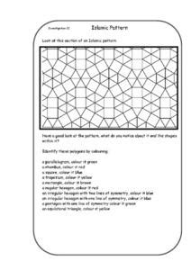 pattern making ks1 islamic patterns worksheet for 5th 6th grade lesson planet