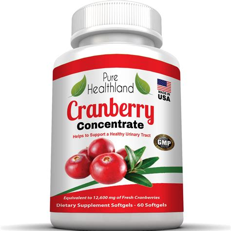 cranberry concentrate supplement softgels for urinary