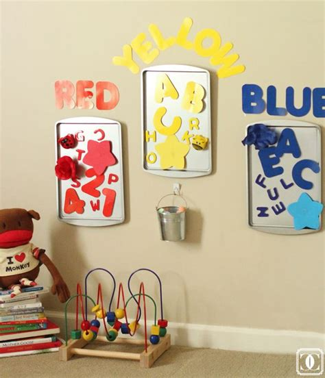 Nursery Classroom Decoration Diy Toddler Sorting Boards Made From Dollar Tree Cookie Sheets Great Idea Play Learn