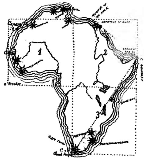a sketch of africa map drawing maps africa ca 1900 maps diy cartography