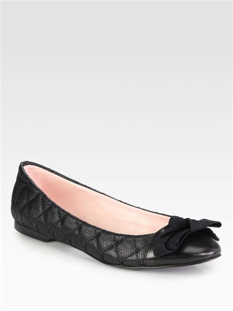 Gfa 21 Lace Valentino Classic Shoes 1 valentino leather and lace bow ballet flats in black lyst