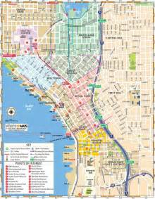 Street Map Of Seattle by Map Of Downtown Seattle Interactive And Printable Maps