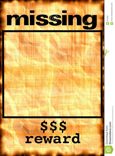 printable missing poster missing poster stock illustration illustration of notice
