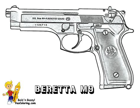 coloring pages of guns to print free coloring pages of pistol gun