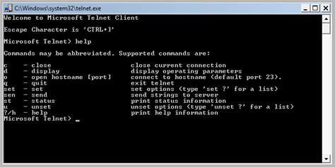 telnet command how to install and enable telnet on windows 10 8 1 8