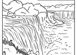 coloring page of niagara falls 4th grade geography worksheets free printables