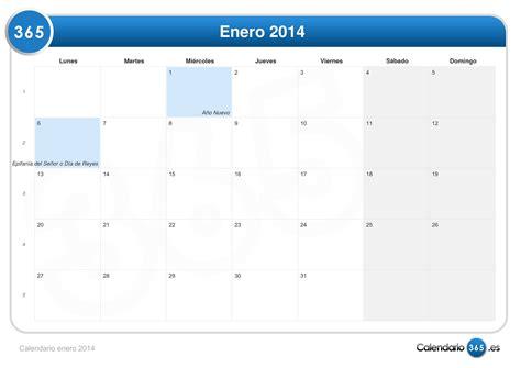 Calendario G D Calendario Enero 2014