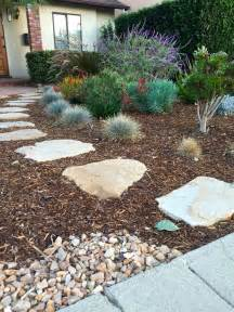 Landscaping Ideas Low Cost Low Cost Landscape Ideas With Steps Brown Mulch