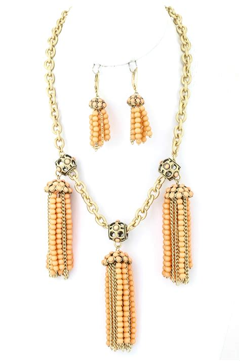 Dangle Necklace three tassel dangle necklace set necklaces