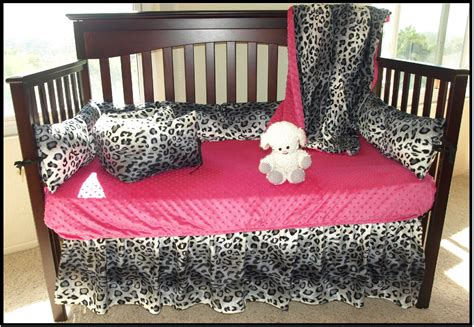 Leopard Crib Bedding Set Snow Leopard Crib Bedding Set