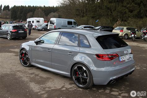 Audi Rs3 Grau by Audi Rs3 Sportback 8v 30 Mrz 2016 Autogespot