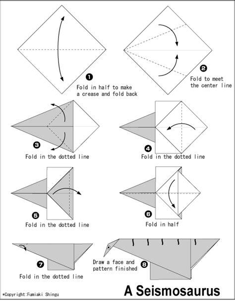 Origami Easy Dinosaur - seismosaurus easy origami for